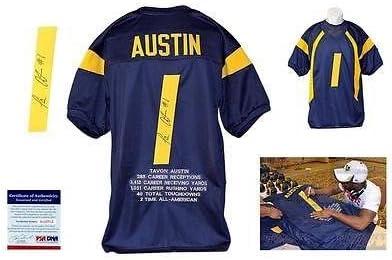 Signed Tavon Austin Jersey - Navy Stat WVU - PSA/DNA Certified ...