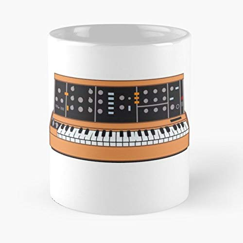 Vintage Synth Synthesiser Keyboard - Best Gift Ceramic Coffee Mugs