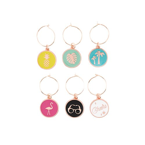 (Blush 5374 Palm Springs Wine Charms, Multi Color)