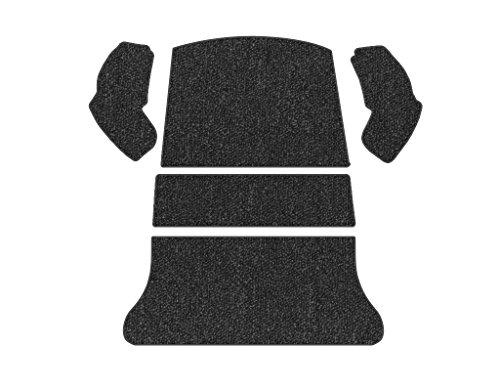 Rear Carpet Set (VW Rear Carpet Kit, 5 Piece Set, Black Loop, Beetle 1965-1972)