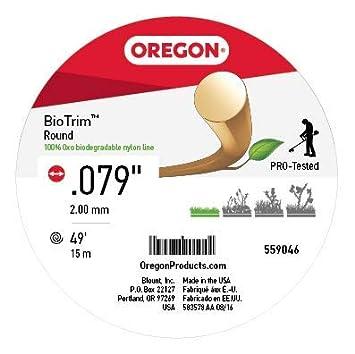 Oregon 559046 - Cuerda de nailon biodegradable para desbrozadora ...