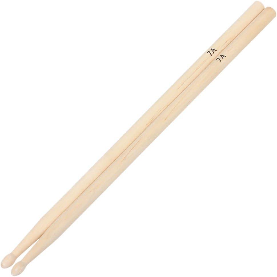 BESTIM INCUK 1 Pair 7A Maple Wood Drum Sticks Wood Tip Drumsticks Musical Instrument Parts