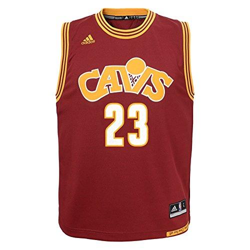 NBA Youth 8-20 Cleveland Cavaliers JAMES Replica Stretch Alternate Jersey-Burgundy-XL(18)