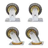 Swivel Caster Wheels, 4 Pack Heavy Duty Metal