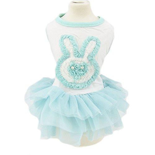 Rabbit Bunny Dog Tutu Dress Skirt Flower Dog