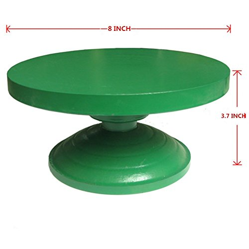 """AIBER Heavy Duty All Metal Cake Stand Sculpting Wheel Turntable with Ball Bearings 8"""" Diameter"""