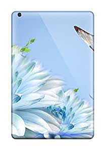 Snap-on Cases Designed For Ipad Mini- Blue Butterfly Minimin2