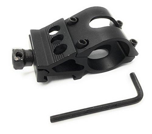 DD DAGGER DEFENSE Dagger Defense offset picatinny rail mount for flashlight, (hex nut) scope or laser, 25mm by DD DAGGER DEFENSE