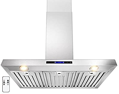 "GOLDEN VANTAGE 36"" Wall Mount Stainless Steel Range Hood With Remote GV-Z01-36"