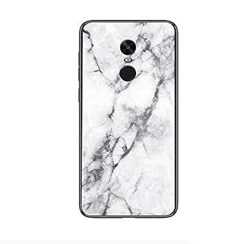 Funda para Xiaomi Redmi Note 4 Mármol Vidrio Templado de Cover Ultra Fina Silicona Gel Caja Case Antideslizante de Carcasa para Xiaomi Redmi Note 4 ...
