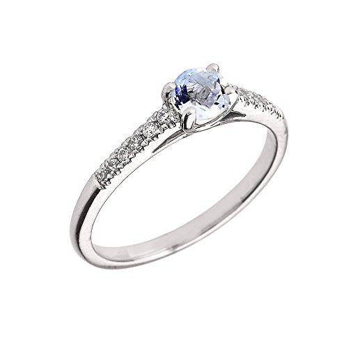 Cheap Genuine Aquamarine Rings