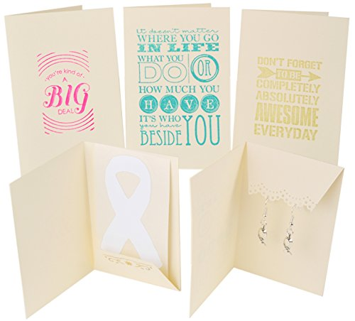 12 Pack Inspirational Cards with Gift for Cancer & Chronic Illness Patients & Caregivers. Three Motivational Expressions. Envelopes Included.