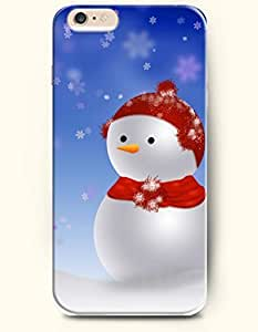 SevenArc Phone Case for iPhone 6 Plus 5.5 Inches with the Design of Cute Snowman and Snowflake