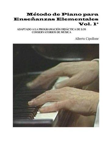 Libro : Metodo de Piano para Enseñanzas Elementales, vol...