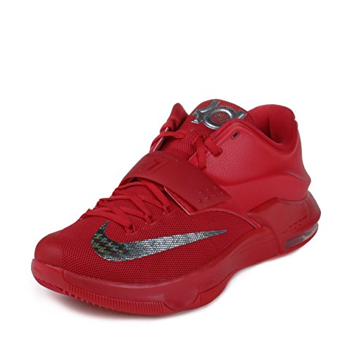 "Nike Mens KD VII ""Global Game"" Action Red/Metallic Silver Sy"