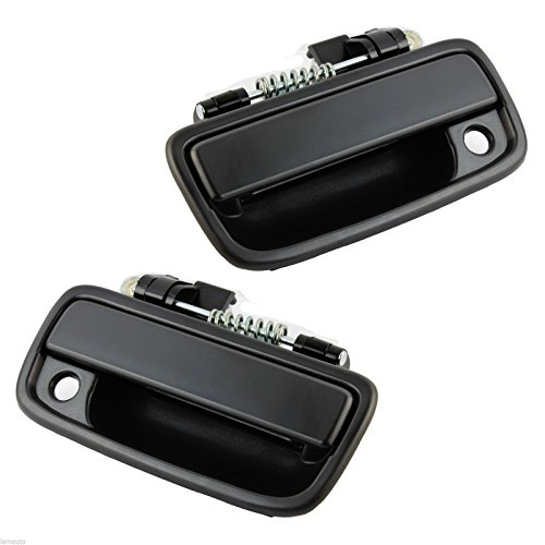 Eynpire 8070 Exterior Outside Outer Front Left Driver & Front Right Passenger Side Pair Set Door Handle Black For 95-04 Toyota Tacoma -