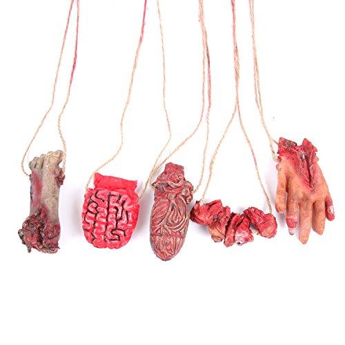 Sweet Devil Scary Bloody Broken Fake Body Parts Halloween Props -