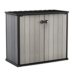 Garden and Outdoor KETER Patio Store 4.6 x 2.5 Foot Resin Outdoor Storage Shed with Paintable and Drillable Walls for Customization-Perfect… outdoor storage sheds