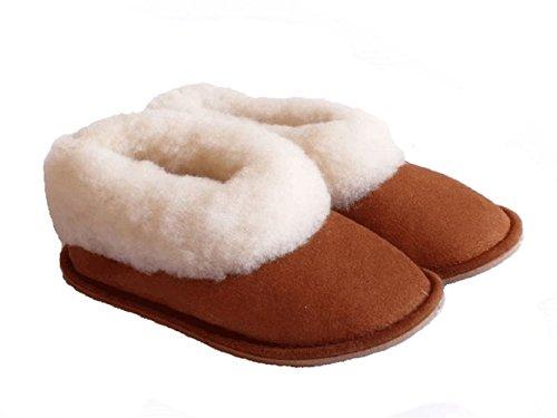 chaussons filles camel fourrés peau de mouton - tannage naturel (21)