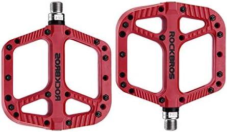 "Orange Platform Bike Pedals 9//16/"" Fixed Gear Track BMX MTB Cruiser Fixie Bicycle"
