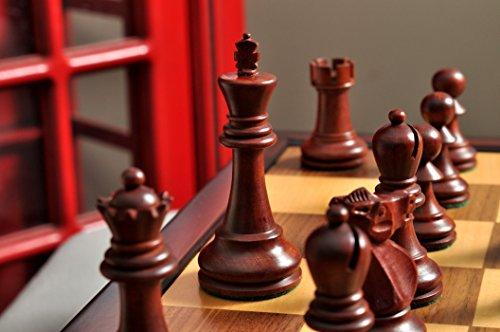 The House of Staunton The Reykjavik II Series Tournament Chess Set and Tiroir Combination - Mahogany Gilded
