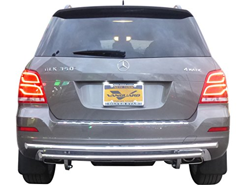 VANGUARD Off Road VGRBG-1031-1164SS For Mercedes Benz GLK350 2014-2015 Rear Bumper Guard Stainless Steel Double Layer Style