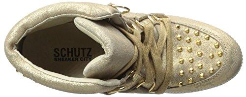 Schutz Kvinna Belize Hög Top Sneaker Guld