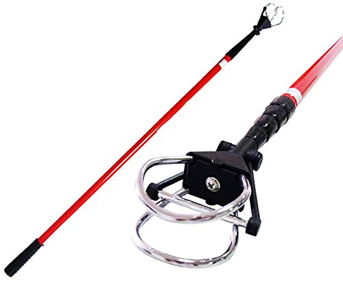 Paragon Golf Compact Ball Retriever 15' with D-Clip in Red (Retriever Clip)