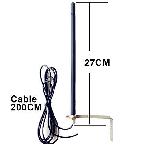 Antena Universal 433.92 MHz para Receptor de Puerta Autom/ática Completa con Soporte Y Cable Blindado