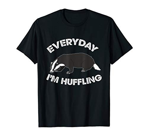 Everyday I'm Huffling Huffle Cute Funny Animal Badger ()