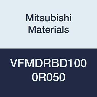 0.5 mm Corner Radius 6 Flutes Medium Flute for Difficult-to-Cut Material 10 mm Cut Dia 25 mm LOC Mitsubishi Materials VFMDRBD1000R050 VFMDRB Series Carbide Impact Miracle Corner Radius End Mill