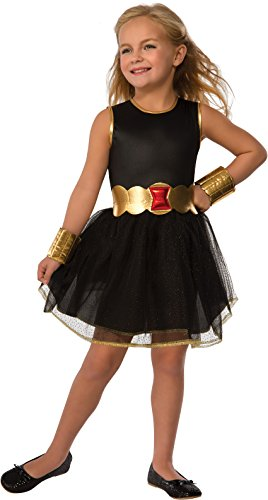 Child Black Widow Costume (Rubie's Costume Marvel Universe Child Black Widow Costume Tutu Dress Costume, Small)