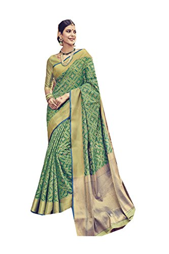 Indian Sarees for Women Wedding Designer Party Wear Traditional Green Sari. by PinkCityCreations