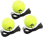 No.eight 3Pack Single Player Training Rebound Tennis and 1 Tennis Trainer Base, Tennis Trainer with Elastic Ro