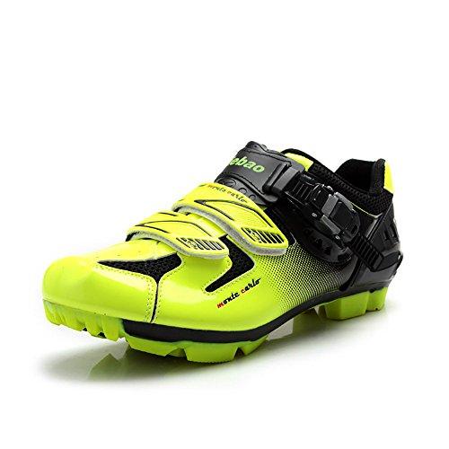 Tiebao Professionelle MTB Radfahren Schuhe Männer Frauen Mountainbike Selbstsichernde Atmungsaktive Fahrradschuhe Grün