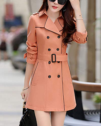 GladiolusA Coat L Manches Longues Trench Femme Manteau fxfwqvrzC