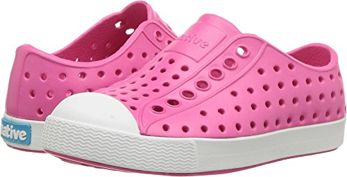 Native baby-girls Jefferson Child Water Proof Shoes, Hollywood Pink/Shell White, 8 Medium US Toddler