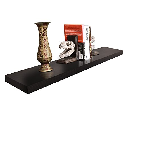 """WELLAND 2"""" Thickness Mission Floating Wall Shelf,Approx 48-inch Length, Espresso"""