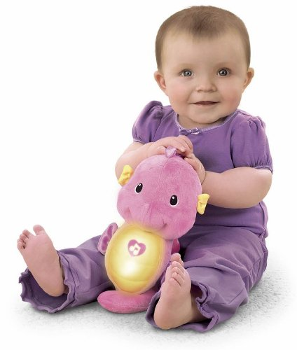 Fisher-Price Ocean Wonders Soothe and Glow Seahorse, Pink (Nighttime Toys)