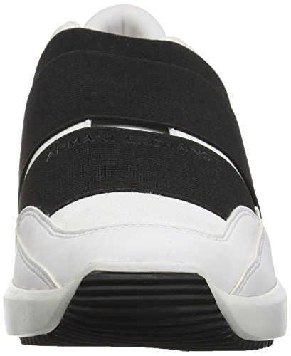 A | X Armani Exchange Heren Colorblock Strap Slip Sneaker Bianco / Nero