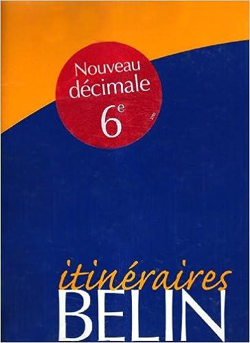 Lire un Maths, 6e, 2000, itinéraire, prof pdf ebook