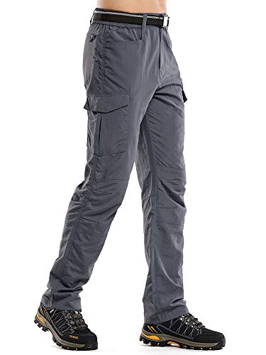 linlon Fulture Direct Mens Hiking Pants Quick Dry Lightweight Fishing Camping UPF 50+ Cargo Pants with Pockets