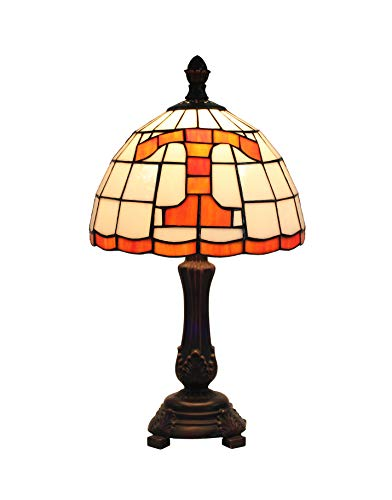 Yogoart 9-inch NCAA Tennessee Volunteers Stained Glass Table Lamp 16-inch Total Height