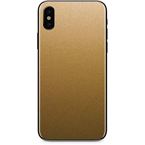 official photos 38fde 8bbe9 Amazon.com: Skinit Metallic Gold Texture iPhone X Skin - Officially ...