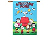 Snoopy & Peanuts Friends ….WELCOME HOME …..House Flag (28″W X 40″L)