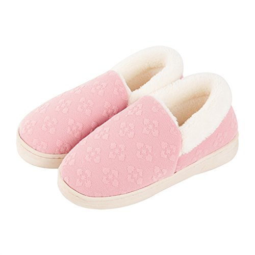 Chaussons DWW Pantoufles en Coton Pur D'Hiver Antidérapant Intérieur Féminin Intérieur Coton Confortable et Respirant (Couleur : Pattern 2, Taille : EUR:40-41)