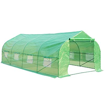 Outsunny 20' x 10' x 7' Portable Walk-In Steeple Garden Greenhouse