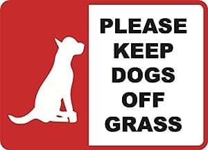 Keep perros de hierba–Yard Sign 12x 18pulgadas jardín entrada casa signos–2unidades