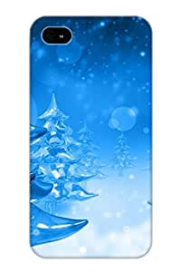 New Snap-on Standinmyside Skin Case Cover Compatible With Iphone 4/4s- Abstract Ice Tree Tree