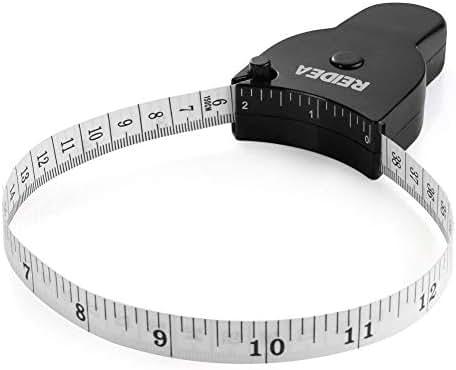 Body Measure Tape 60inch (150cm), Lock Pin and Push-Button Retract, Ergnomic and Portable Design, Black.